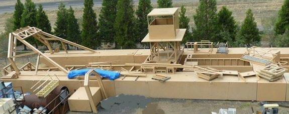 Shop Manufactured 30' W x 120' L Mining Dredge. It is a well designed unit and appears to copy an Ellicott Dredge