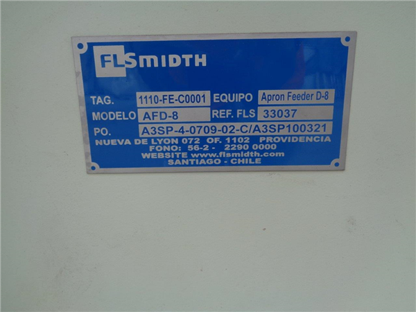"""Lot Of (5) Unused Flsmidth Apron Feeders, (1) 2.5m X 11m (8' X 36') And (4) 1.6m X 10m (5' X 32'10""""), Each With 374 Kw (500 Hp) Motor"""