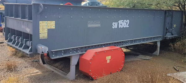 "UNUSED SANDVIK Type SV1562D Vibrating Grizzly Feeder, 60"" W x 20' L"