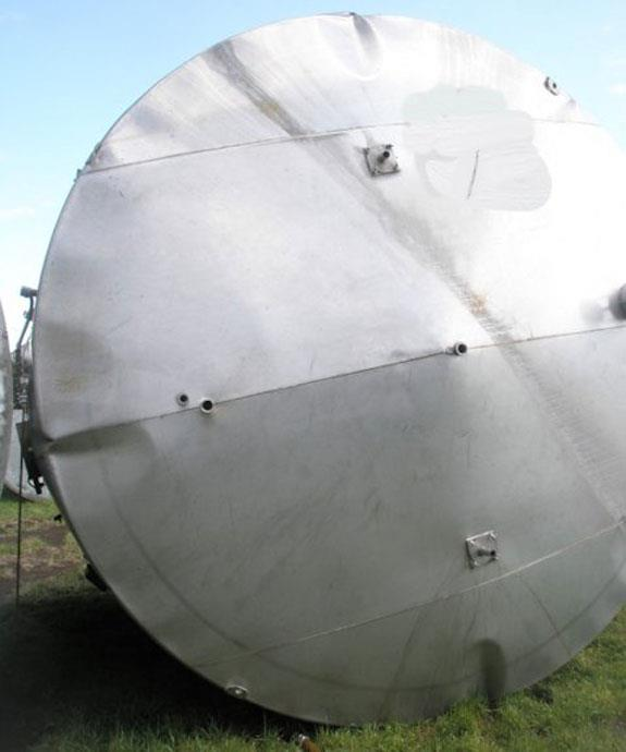 Stainless Steel 12-1/2' Dia. X 15' H Tank, 13,455 Gallon Capacity