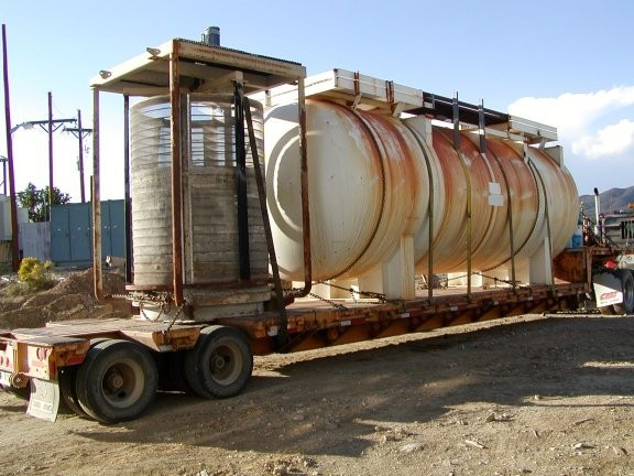 AMERICAN FABRICATION Sulphur Dioxide Tank, 10' D x 25' L, 150 PSI at 95 Deg F, with Corken Gas Compressor