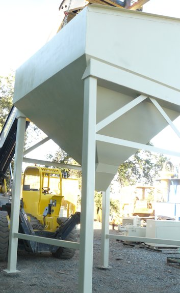 "Approximately 20 Cubic Yard Mild Steel Feed Hopper With 9' 10"" Wide X 9' 10"" Long Feed Opening"