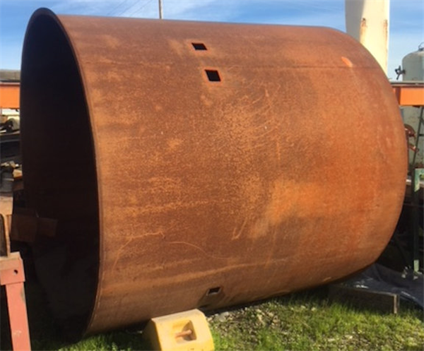 8' X 8' Mild Steel Tank, Approx. 3000 gal. Offered Repaired, Sandblasted and Painted