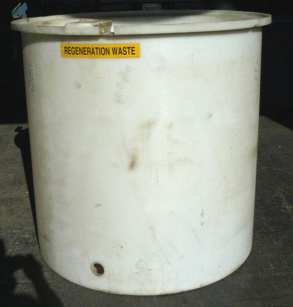 Plastic Tank With Lid, Used For Regeneration Waste