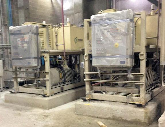 2 Units - SCHWING BIOSET Paste Pumps & Hydraulic Power Unit