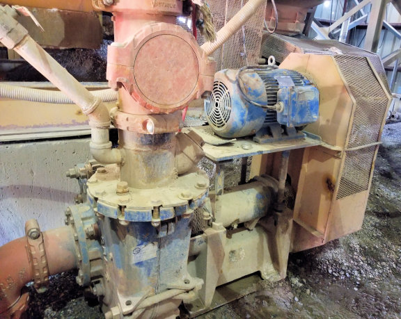 ALLIS CHALMERS 10 x 8 x 21 SRL-C Pump with Leeson 50 HP Motor