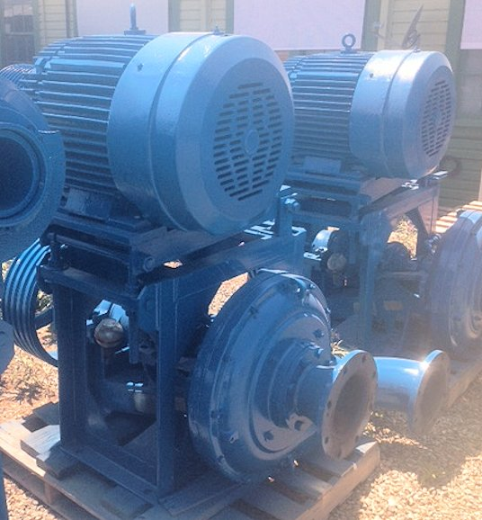 3 Units - ASH Pumps, Type B-6-6 with 100 HP motor