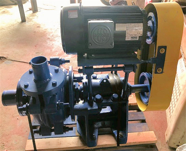 "UNUSED 4"" x 3"" Horizontal Pump with Unused 20 HP Motor"