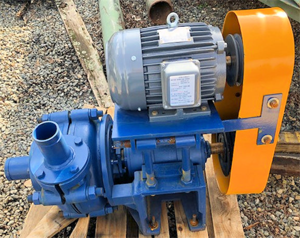 "UNUSED 3"" x 2-1/2"" Horizontal Pump with Unused 5 HP Motor"