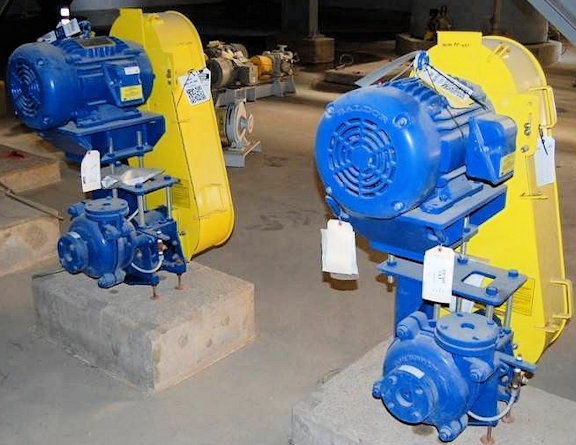 "2 Units - UNUSED 1.5"" X 1"" WARMAN B-AH Pumps, Model 1.5/1 BAH Centrifugal Slurry Pumps with 15 HP motor"