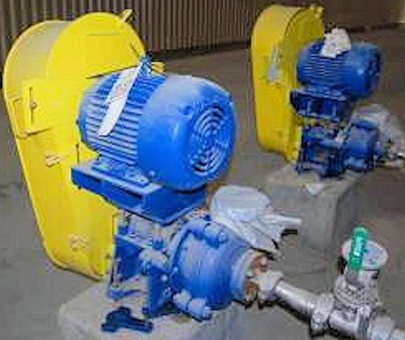 "UNUSED 1.5"" X 1"" WARMAN B-AH Pump, Model 015BAHRRRMM3501 Centrifugal SRL Pump with 7.5 HP motor"
