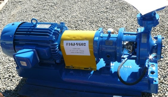 "GOULDS 2"" x 3"" x 8""  Pump with 25 HP Motor"