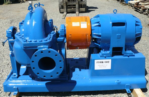 "GOULDS Series Model 3316 Size 6"" x 8"" -17 Fresh Water Pump with 100 HP motor"