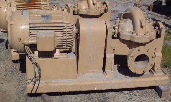 GOULDS Model 3405, 6 x 8 x 13 Pump with 30 HP Motor