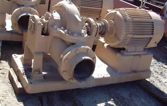 GOULDS Model 3405, 6 x 8 x 13 Pump with 50 HP Motor