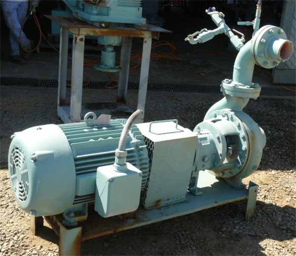 """Goulds 6"""" X 4"""" Centrifugal Pump With 50 Hp Motor"""