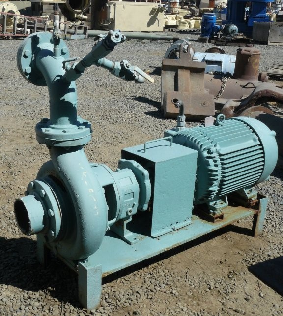"GOULDS 6"" x 4"" centrifugal pump with 50 HP Motor"