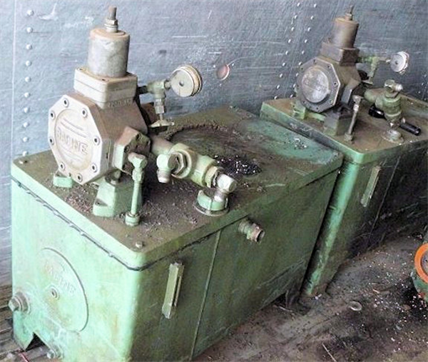 2 Units - RACINE Hydraulic Pump, with 50 gal hydraulic tank