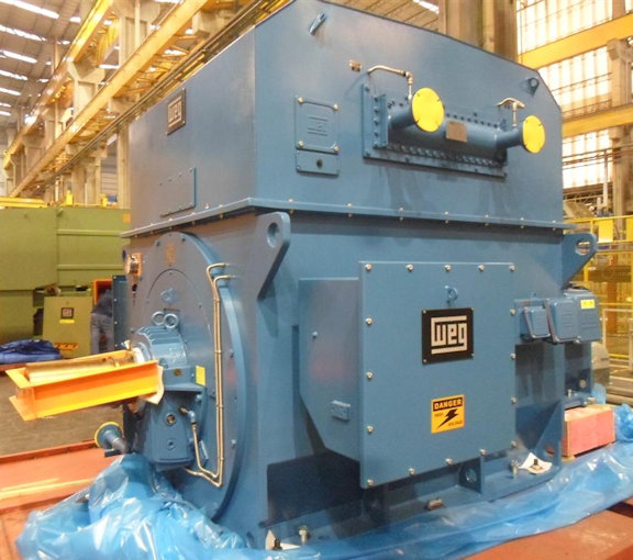 Unused Weg 6,000 Kw (8,043 Hp) Synchronous Motor, 850 Rpm