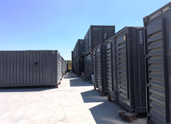 2 Units - Cummins 1250 Kw Containerized Model Qsk45-g4 Super Silent Diesel Power Package Generators, Only Test Hours
