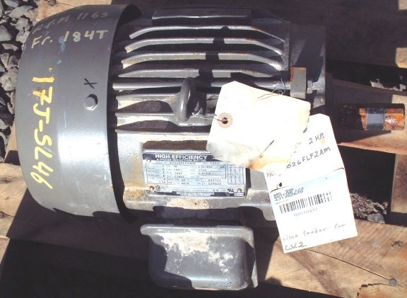 World Energy High Efficiency 2 Hp Motor, 1165 Rpm