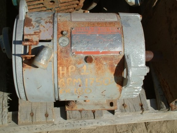 GE KINAMATIC 1 HP Motor, 1750 RPM, Model 5CD142FA