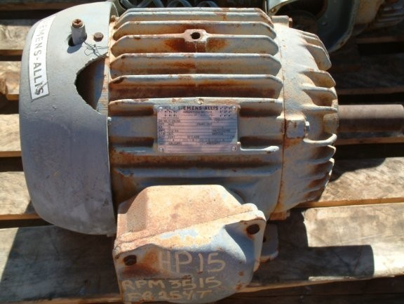 SIEMENS-ALLIS 15 HP Motor, 3515 RPM