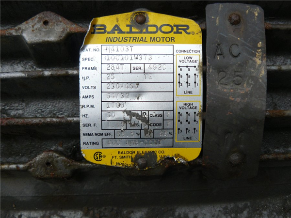 Unused Baldor 25 Hp Motor, 1760 Rpm