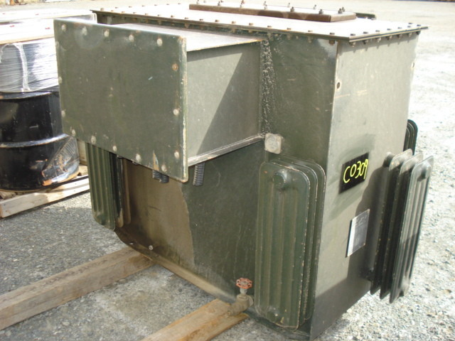 Canadian General Electric 225 Kva Permalex Oil Filled Transformer