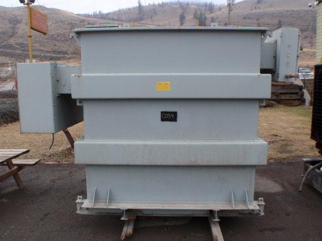 USED 500 KVA FEDERAL PIONEER Nitrogen Sealed Dry Type Transformer.