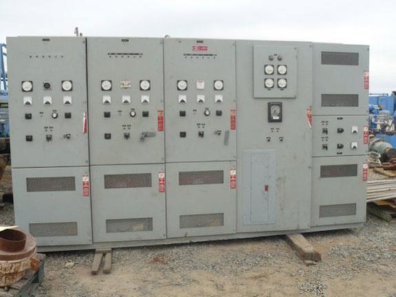 Control Panel, consisting of EPE- Electric Power Equipment Drawout Contactor Assembly, Woodward SPM-A Synchronizer & Low Voltage 2301A Load Sharing Speed Control