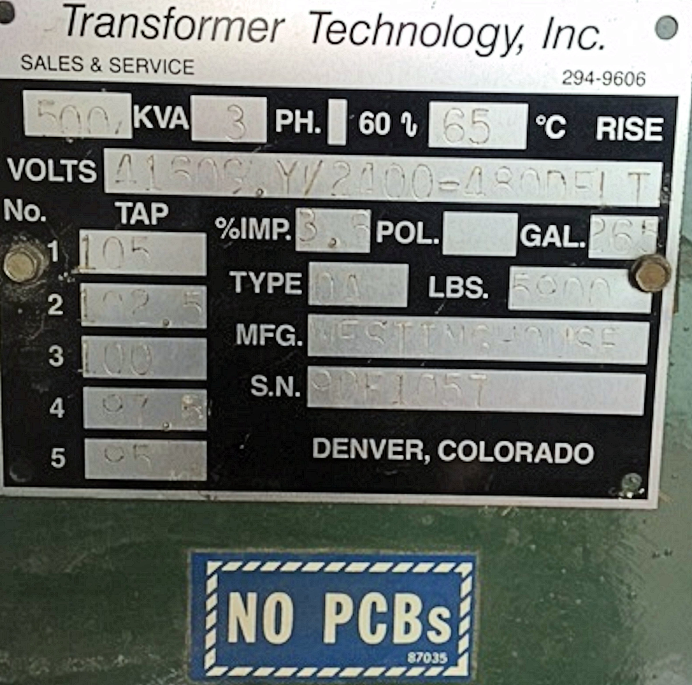 Westinghouse Transformer Technology 500 Kva Transformers