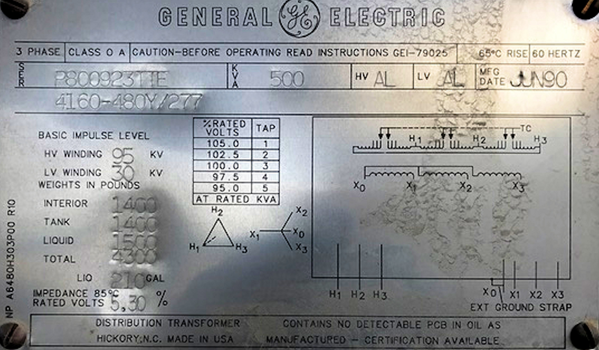2 Units - General Electric 500 Kva 3-phase Transformers