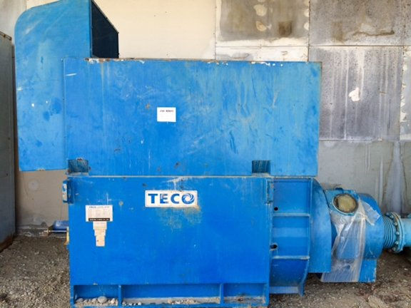 2 Units - TECO 750 kW (1005 HP) 3-phase Induction Motors, 1182 RPM, 60 Hz