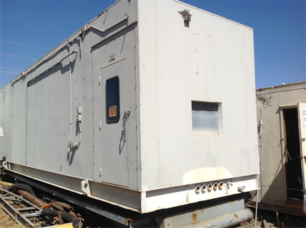 Electric Container/Van consisting of a 480 Volt Panel made up of 5 sections and a 4160 Volt Panel made up of 4 sections