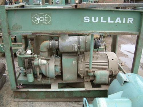 Sullair Rotary Screw Air Compressor, Model 12b-50h Wcac, 50 Hp, 185 Cfm