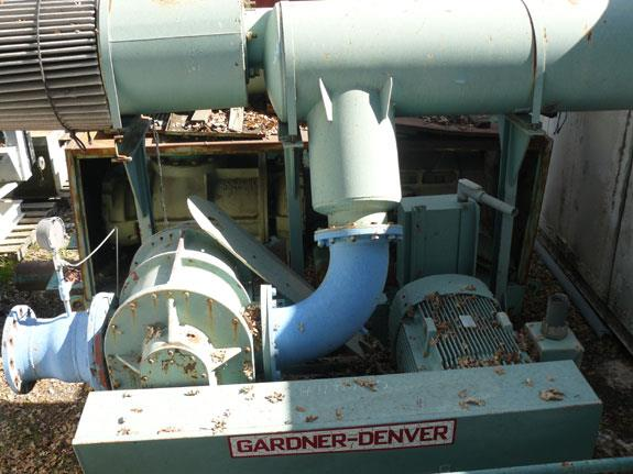 Gardner-denver Positive Displacement Rotary Lobe Type, Low Pressure Air Blowers, Model H11pdr22 With 100 Hp Motor And Dual Silencers