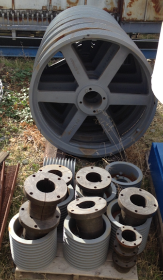 Lot Of Spare Sheaves And Bushings From Prochem 965frt50 Agitators