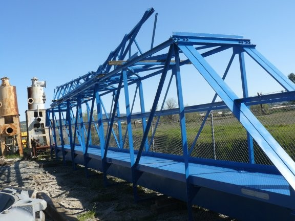 "Dorr Oliver/eimco 125' Dia.thickener Components Including 59'4"" Bridge, (2) 58' Rakes And Center Column Support Spindle"