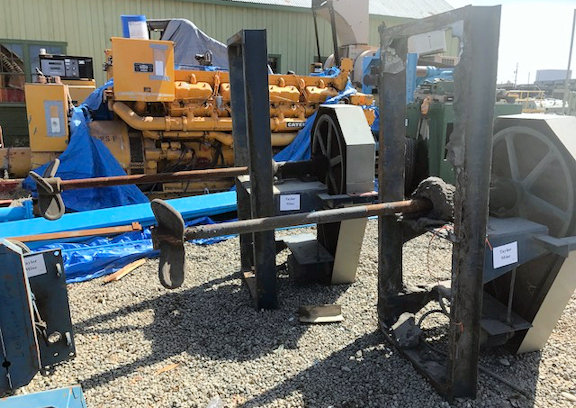 "2 Units - 3-paddle Mixer, 4'6"" L X 2-1/2"" Dia. Shaft And 5 Hp Motor"