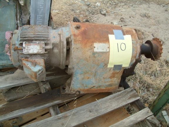 Gearhead Motor, 70.6:1 ratio with Reliance 3 HP motor