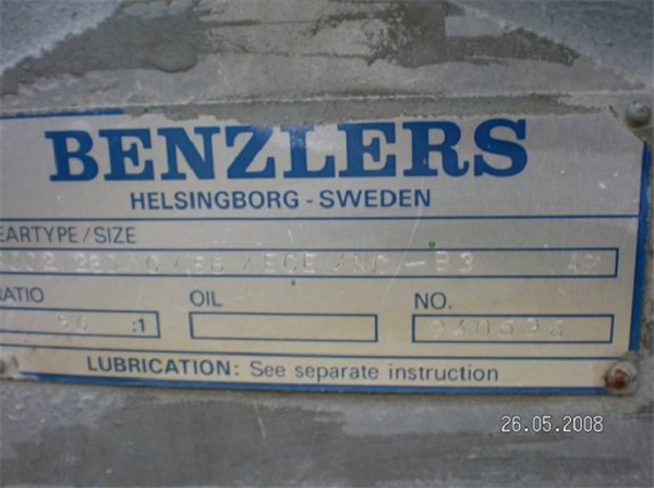 Benzlers Series H, Size 280 Gear Reducer, 56:1 Ratio