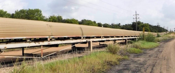"2 Units - 48"" Wide x 1,750 FT Long Sections Channel Frame Overland Conveyor with 150 HP Drive Motor"