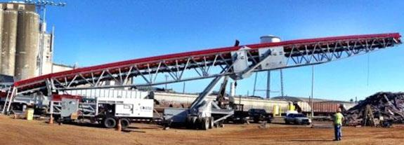 """BULK LOADING SYSTEM, Including 72"""" x 130' Radial Stacking Conveyor and 52"""" x 20' Vibratory Feeder"""