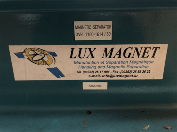 Magnet Package Consisting Of Schenck Belt Weighers, Lux Overband Magnets & Metal Detectors