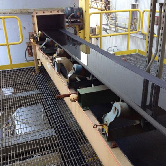 "Meco 18"" W X 30' L Dryer Feed Horizontal Conveyor With 3 Hp Motor"