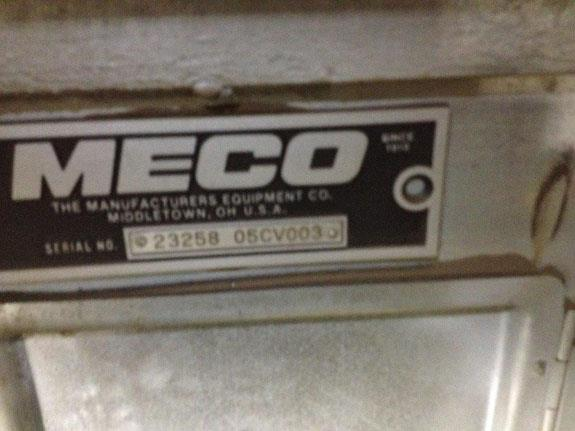 Meco 92' D/h Bucket Elevator, 14 X 42, Model B85a24 With 7.5 Hp Motor