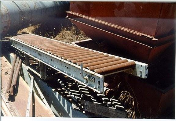 "Carton Flat Roller Conveyor, 15"" W x 10' L with 1 HP motor; no belt"