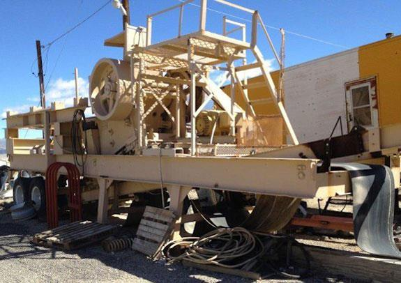 "Telsmith 20"" X 36"" Portable Roller Bearing Jaw Crusher With 30"" X 14' Grizzley Feeder And 42"" X 15' Hinged Conveyor"
