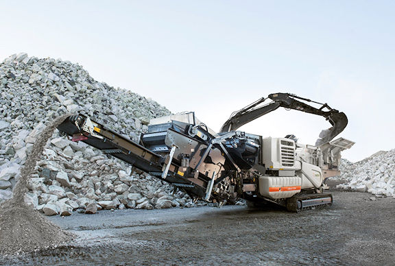 METSO MINERALS Model LT1213S Track Mounted Crushing and Screening Plant